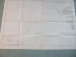 Service Hydrographique De La Marine :  Atterrages De BREST - 1 / 288 100ème - 1893 / 1963. - Nautical Charts