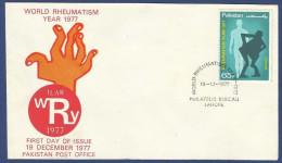 PAKISTAN 1977 MNH FDC FIRST DAY COVER WORLD RHEUMATISM YEAR 1977 - Pakistan