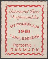"""Portofreiheitsmarke-Lager Post Tarp 1.III. """"Lagermarke Für Internierte Österreicher"""" Mint / * / Ungebraucht - Plaatfouten & Curiosa"""