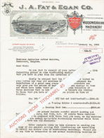 Lettre Illustrée 1928 CINCINATTI, OHIO U.S.A. - J. A. FAY & EGAN Co - Manufacturers Og Woodworking Machinery - Etats-Unis