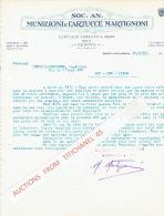 Lettre 1931 GENOVA - MUNIZIONI E CARTUCCE MARTIGNONI - Italie