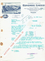 Lettre 1934 MONZA - Cappellificio DEMONDO GAEZZI - Fabbrica Feltri Lana - Italy