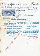 Lettre 1930 MONZA - CAPPELIFICI DOMENICO MORETTI - Fabricazione Dei Feltri E Cappelli Lana Per Uomo E Signora - Italy
