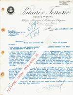 Lettre 1934 MONZA - PALEARI & FERRARI - Fabriques Mécaniques De Feutres Pour Chapeaux - Cloches De Fantaisie Pour Da - Italie