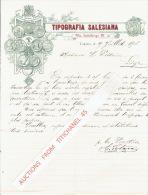 Lettre 1906 TORINO - TIPOGRAFIA SALESIANA - Italia