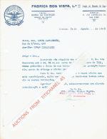 Lettre  1946 LISBOA - FABRICA BOA VISTA - Secçao De Chumbo De Caça - Portugal
