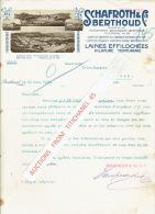 Lettre 1929 BERTHOUD (SUISSE) - SCHAFROTH & Cie à BERTHOUD - Filature-Teinturerie-Laines Effilochées - Switzerland