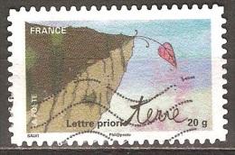 France - 2011 - Feuille En Surplomb - YT Adhésif 527 Oblitéré - France