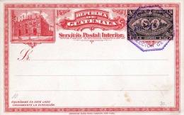 GUATEMALA 1897 - Doppel-Postkarte Mit Je 3 Centavos Ganzsache, 1 Stempel, Gute Erhaltung - Guatemala