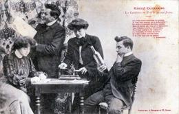 Zwei Junge Paare 1903 - Grand Concurs - Les Canditats An Prix De 50.000 Francs, Karte Gel.1903, Paris - Paare