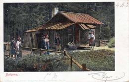 DELARNE (Schweden) 1903 - Waldhütte Mit Personen, Schöne Seltene 2 Fach Frankierung, Gel.n.Wien - Schweden