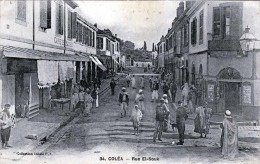 COLEA 1923? - Rue El Souk, Belebte Strassenansicht, Gel.1923? - Madagaskar