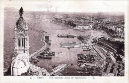 ORAN 1927 - Vue Generale Prise De Santa Cruz, Karte 3 Fach Frankiert, Gel.n.Belgien - Oran