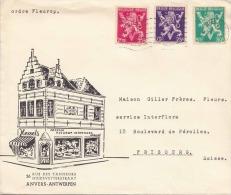 Brief 1950? BELGIEN > Schweiz 3 Fach Frankiert (50C+75C+2,75F) - Luftpost