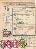 Bulletin D'Exp. 1951 BELGIEN - 5 Fach Frankiert (9+10+100+100+100 F) Von Deerlijk > Charleroi - Briefe U. Dokumente