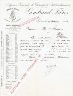 Lettre 1903 GIVET - GONDRAND FRERES - Société Anonyme Internationale De Transports - Affrêtements - France