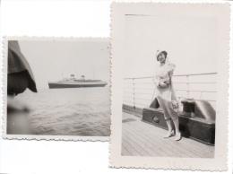 bateau paquebot Rex 1933 photo 5,5x8cm x2 - 2scans