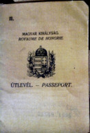 HUNGARY / ROYAUME DE HONGRIE -    PASSEPORT  1934. - Old Paper