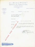 Brief 1954 MAASTRICHT - De BEAUMONT - Wapens En Ammunitiën - Pays-Bas
