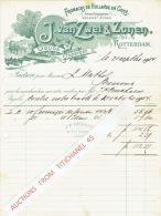 Factuur Geillustreerd 1904 ROTTERDAM - J. VAN ZWET & ZONEN - Fromages De Hollande En Gros - Pays-Bas