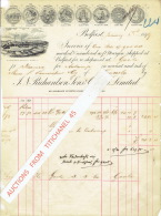 Facture De 1899 BELFAST - J. N. RICHARDSSON, Sons & OWDEN, LIMITED - GLENMORE BEACH WORKS - Marchand De Lin - Royaume-Uni