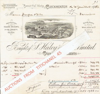 Facture 1903 CLECKHEATON - Bought Of S. HALEY & SON LIMITED - Machine For Hammering - Mire Manufacturers - Royaume-Uni