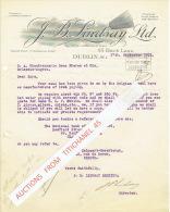 Lettre 1932 DUBLIN - J. B. LINDSAY Ltd - Royaume-Uni