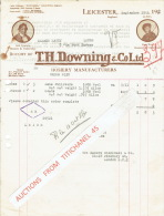 Facture 1925 LEICESTER - T.H. DOWNING & CoLtd - Hosiery Manufacturers - Royaume-Uni