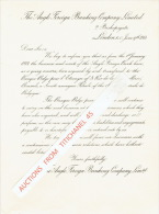 Lettre 1913 LONDON - THE ANGLO FOREIGN BANKING COMPANY Ltd Devient La BANQUE BELGE POUR L'ETRANGER - United Kingdom