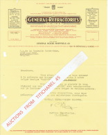 Lettre 1936 SHEFFIELD - GENERAL REFRACTORIES - Producers Of Fire And Heat Resisting And Heat Insulating Bricks - Royaume-Uni