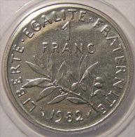 Monnaie fran�aise, Semeuse, 1 Franc 1982