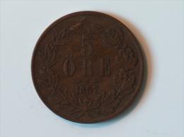 SUEDE 5 ORE 1857 - Suède