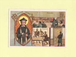 Saint Patron Des Avocats Notaires - Saint Yves - Chromo Chocolat Rationnel - Non Classés