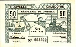 NOUVELLE CALEDONIE. Trésorerie De Nouméa. 50 Centimes - - Nouméa (New Caledonia 1873-1985)