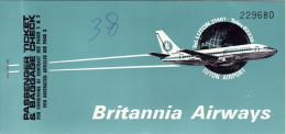 BRITANNIA  ARIWAYS   /   Ticket _ Biglietto aereo