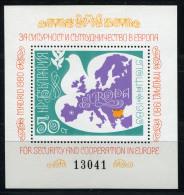 25290) BULGARIEN Block 106 Postfrisch Aus 1980, 35.- € - Blocks & Sheetlets