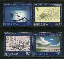 """Bermuda     """"Halley's Comet""""     Set     SC# 478-81    MNH** - Bermuda"""
