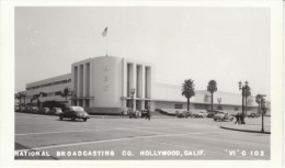 Hollywood California, NBC Studio, Street Scene, Auto, c1930s/40s Vintage Real Photo Postcard