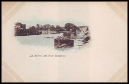 PARIS - La Seine Au Bas-Meudon. 1890´s (Unused Old Postcard - Non Voyagée CPA) - De Seine En Haar Oevers