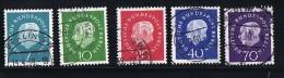 1959   Président Heuss  Série Complète MiNr 182-6 - Used Stamps