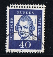 1961  G. E. Lessing MiNr 207 R  Oblitéré