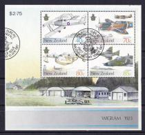 New Zealand 1987 Military History - Air Force Minisheet Used - Used Stamps