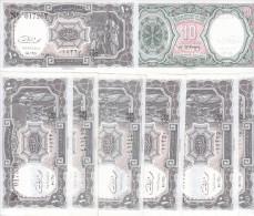 EGYPT 10 PIASTERS 1971 P-184b SIG/EL RAZAZ X10 UNC Notes Cv=$30.00 */* - Egypte