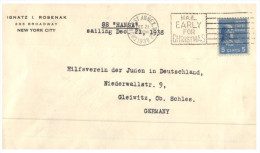 (PH 678) USA To Germany Ship Mail - SS Hansa Sailing Dec 21, 1938 - Barche