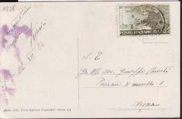 "Francobollo Italia ""S. Francesco c. 20 anno 1926"" su cartolina fp  Siena"