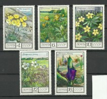 RUSSIA Soviet Union 1975 Blumen Flowers Michel 4428 - 4432 MNH - 1923-1991 USSR