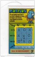 56/   FRANCAISE DES JEUX      MORPION  SERIE    57002  Trait Bleu - Lottery Tickets