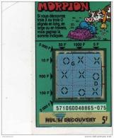 85/   FRANCAISE DES JEUX      MORPION  SERIE  57106   Trait Bleu - Lottery Tickets