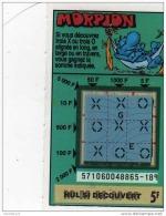 86/   .FRANCAISE DES JEUX      MORPION  SERIE  57106   Trait Bleu - Lottery Tickets