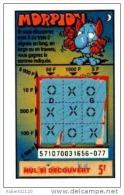 89/     FRANCAISE DES JEUX      MORPION  SERIE  57107   Trait Bleu - Lottery Tickets